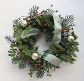 Green Christmas wreath Stock Image