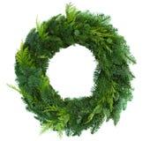 Green christmas wreath Stock Photos
