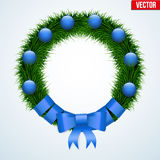 Green christmas wreath Stock Photos