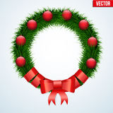 Green christmas wreath Stock Images