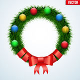 Green christmas wreath Royalty Free Stock Photo