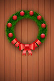 Green christmas wreath Royalty Free Stock Photos