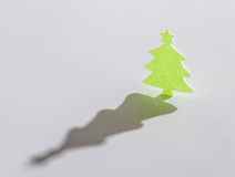 Green christmass tree on white background