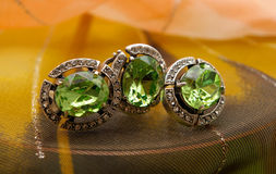 Green chrysolite Royalty Free Stock Photo