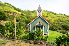 The green church in west Maui, Hawaii Royalty Free Stock Photos