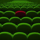 Green cinema or theater seats Stock Images