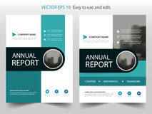 Green circle abstract annual report Brochure design template vector. Business Flyers infographic magazine poster.Abstract layout Stock Photo