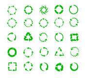 Green circle arrows Stock Photography