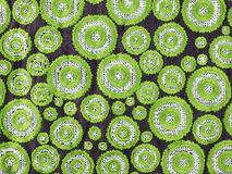 Green circle, background pattern of fabric Royalty Free Stock Images