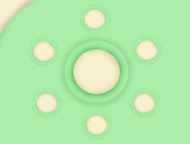 The green circle background texture. Royalty Free Stock Images