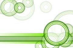 Green Circle Border Background. Abstract design with green circles on a white background Royalty Free Stock Images