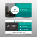 Green circle corporate business card, name card template ,horizontal simple clean layout design template , Business banner. Template for website Stock Photography