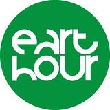 Green circle eart hour emblem stock illustration