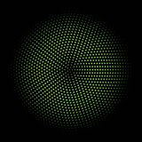 Green circle of halftone Stock Photography