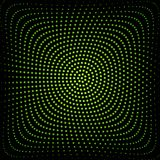 Green circle of halftone Stock Photo