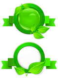 Green circle icon Stock Photography