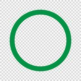 Green circle icon . Vector illustration. Green circle icon on transparent background . Template for your design royalty free illustration