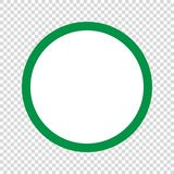 Green circle icon . Vector illustration. Green circle icon on transparent background . Template for your design vector illustration