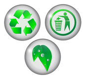 Green circle icons. Royalty Free Stock Images
