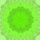 Green Circle Lace Ornament Royalty Free Stock Image