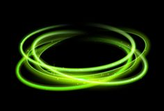 Green circle light effect background. Swirl glow magic line trail. Light effect motion.  vector illustration