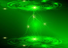 Green circle and light technology background, Abstract digital concept royalty free illustration