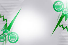 Green circle and line, abstract background Stock Images