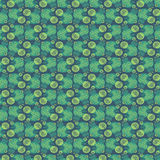 Green Circle and Line Pattern Stock Image