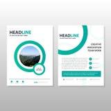 Green circle minimal Brochure Leaflet Flyer template design, boo Stock Photography