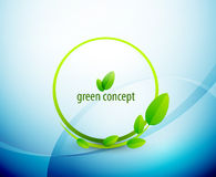 Green circle nature concept Royalty Free Stock Image