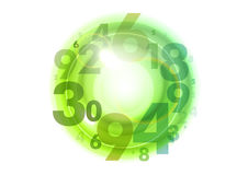 Green circle of numbers Royalty Free Stock Images