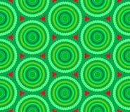 Green circle pattern Royalty Free Stock Image