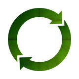 Green circle recycle sign Royalty Free Stock Photography
