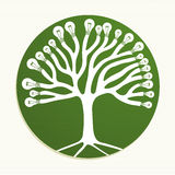 Green circle recycle tree illustration Royalty Free Stock Image