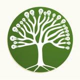 Green circle recycle tree illustration Royalty Free Stock Image