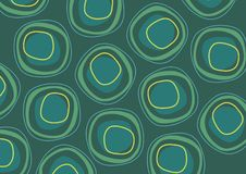 Green circle repeat pattern Royalty Free Stock Images