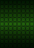 Green circle shape pattern dark background vector Stock Photography