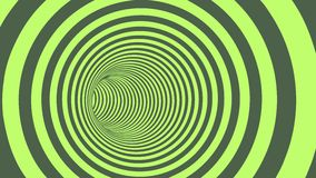 Green Circle Striped Abstract Tunnel Royalty Free Stock Image