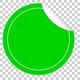 Green Circle Tag or label Royalty Free Stock Photos