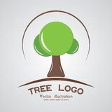 Green circle tree logotype branding wood company. Royalty Free Stock Photo