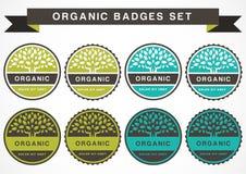 Green circle tree, vector logo design template. Set of organic p Royalty Free Stock Image