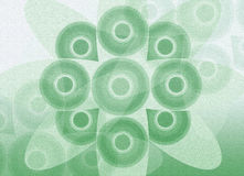 Green circles. Pattern of green circles on a light green textured background Stock Photography