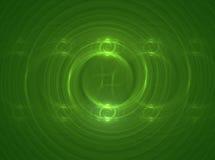 Green Circles. Fractal rendering of green spiraling circles Vector Illustration
