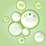 Green circles Royalty Free Stock Images
