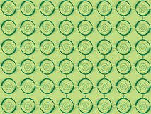 Green circles. On green background Royalty Free Stock Photography