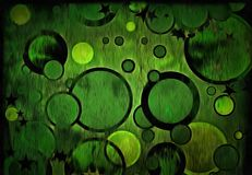 Green Circles Abstract Background. Circular Forms and Green Color Abstract Stock Illustration