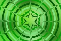 Green circles on green background. Green circles on background in different shades of green with inward and outward spikes Royalty Free Illustration