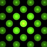 Green circles on a black background, abstract dark fractal computer generated image, background for text labels Royalty Free Stock Images