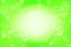 Green circles and bubble background Royalty Free Stock Photography