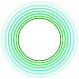 Green Circles Round Border Frame. Invitation or greeting card with green concentric circles border frame in various green tints Stock Image